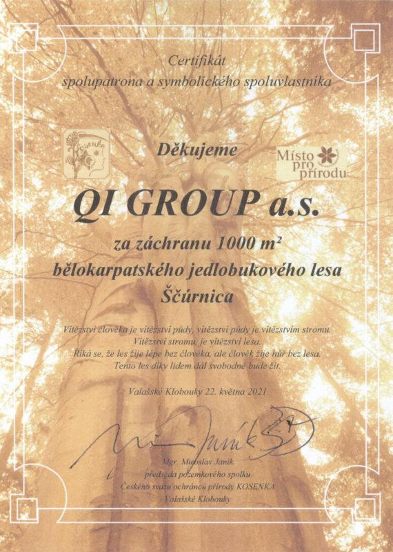 Certifikát Ščúrnica
