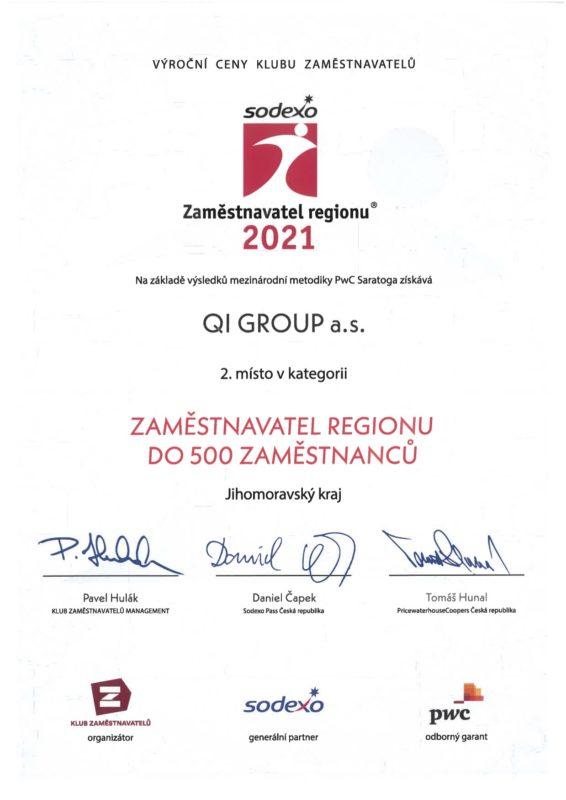 Sodexo Zaměstnavatel roku 2021